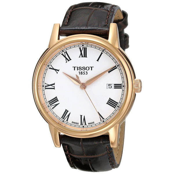 Tissot Men's T0854103601300 'T-Classic Carson' Brown Leather Watch