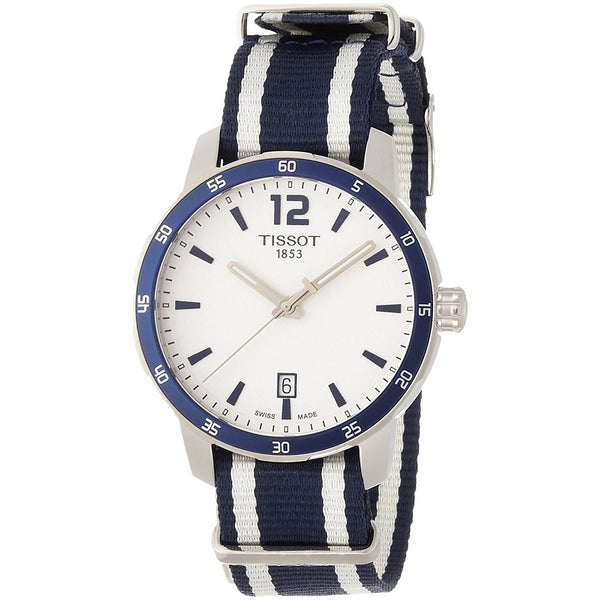 Tissot Men's T0954101703701 'Quickster ' Extra Bands Blue and white Nylon Watch