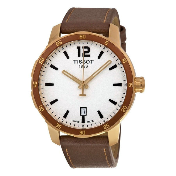 Tissot Men's T0954103603700 'Quickster' Brown Leather Watch