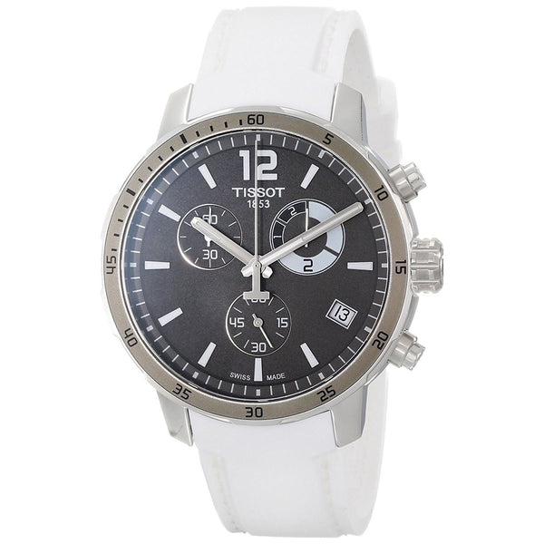 Tissot Men's T0954491706700 'Quickster' Chronograph White Silicone Watch