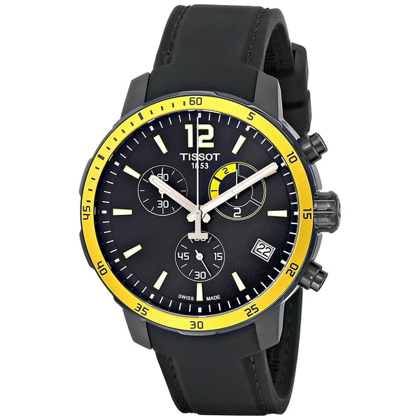 Tissot Men's T0954493705700 'Quickster' Chronograph Black Silicone Watch