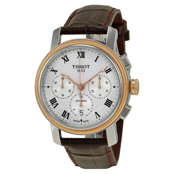 Tissot Men's T0974272603300 'Bridgeport' Chronograph Automatic Brown Leather Watch