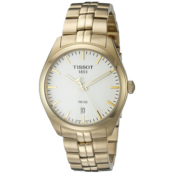 Tissot Men's T1014103303100 'PR 100' Gold-Tone Stainless Steel Watch