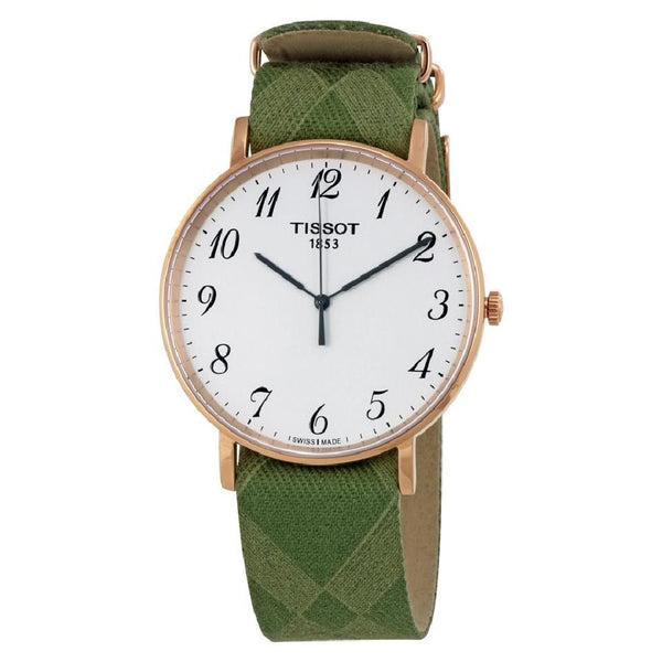 Tissot Men's T1096103803200 'T-Classic Everytime' Green Nylon Watch
