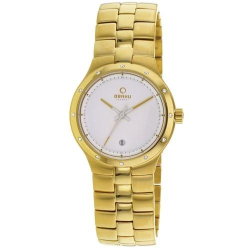Obaku Women's V111LGWSG 'Harmony' Gold-tone Stainless Steel Watch
