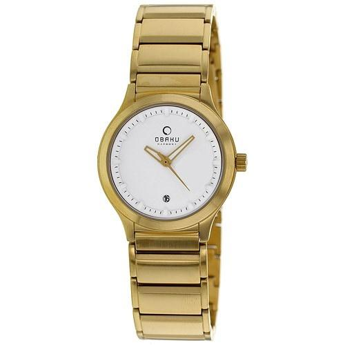 Obaku Women's V115LGWSG 'Harmony' Gold Stainless Steel Watch