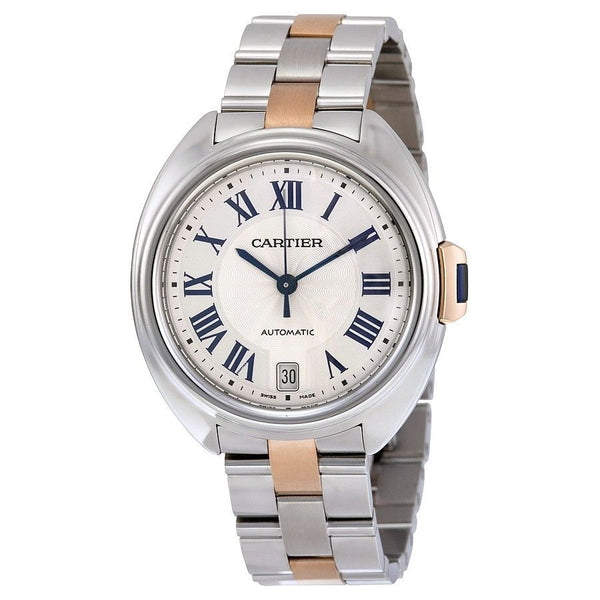 Cartier Women's W2CL0003 'Cle' 18kt Rose Gold Automatic Two-Tone Stainless Steel Watch