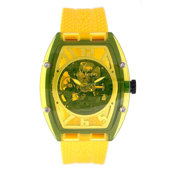 Toy Watch Unisex X06YL 'Naked' Automatic Yellow Rubber Watch