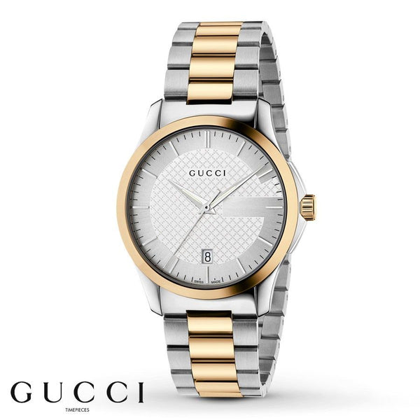 Gucci Men's YA126450 'G-Timeless' Two-Tone Stainless Steel Watch