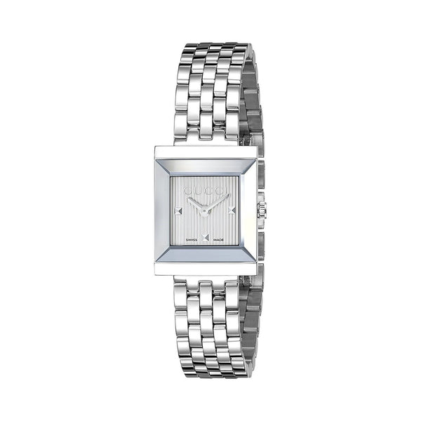 Gucci Women's YA128402 'G-Frame' Stainless Steel Watch