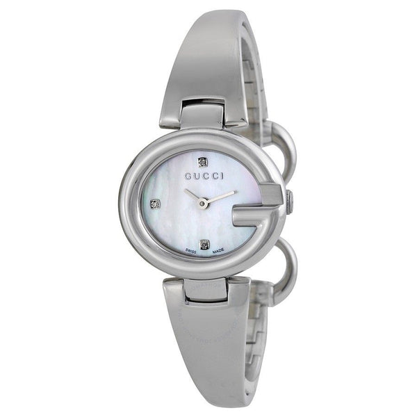 Gucci Women's YA134504 'Guccissima' Diamond Stainless Steel Watch