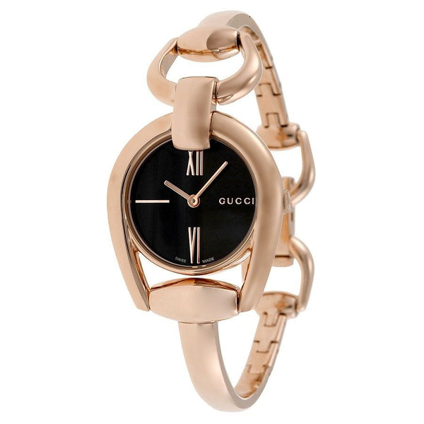 Gucci Women's YA139507 'Horsebit' Rose-Tone Stainless Steel Watch