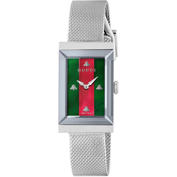 Gucci Women's YA147401 'G-Frame' Stainless Steel Watch