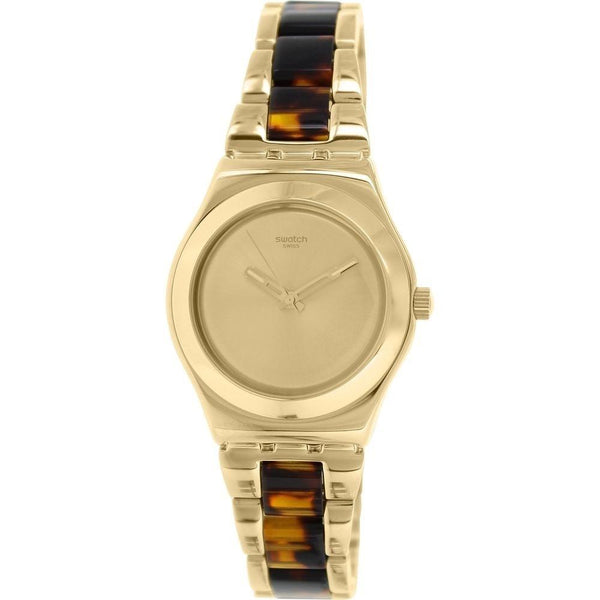 Swatch Women's YLG127G 'Irony Chicdream' Tortoise Two-Tone Stainless Steel Watch