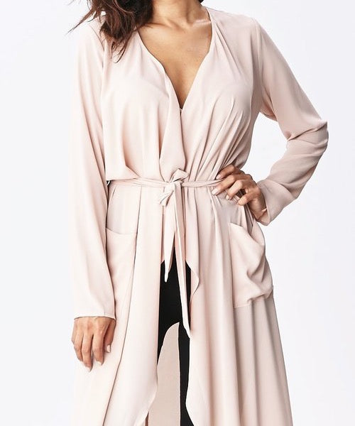 Maxi Duster- Light Blush