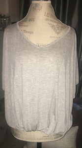 Heather Grey Short Sleeve Top