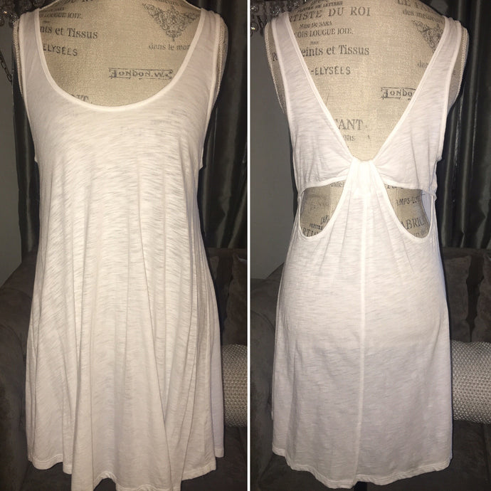 White Long Tank or Cover up