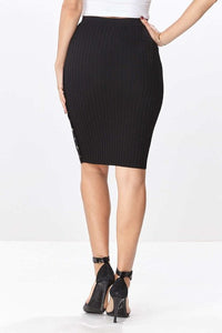 Arlene Knit Skirt -Black