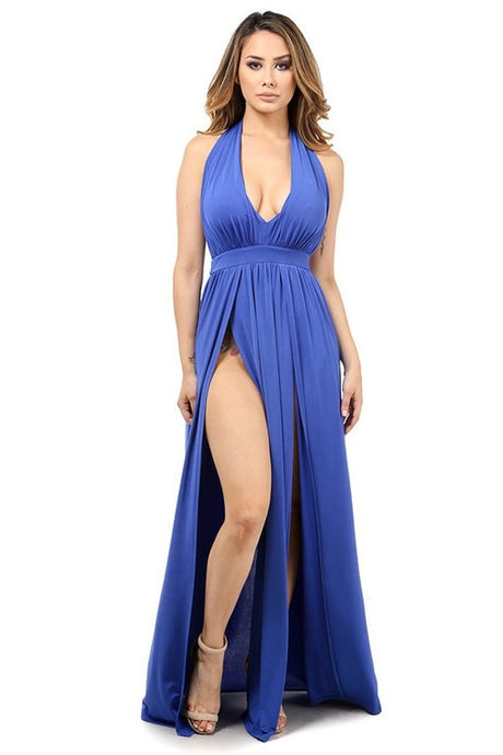 Blu Double Slit Dress