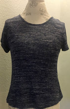 Navy Blue with Grey Stripes Top