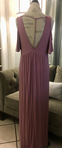 Lavender Mauve Cold Shoulder Dress