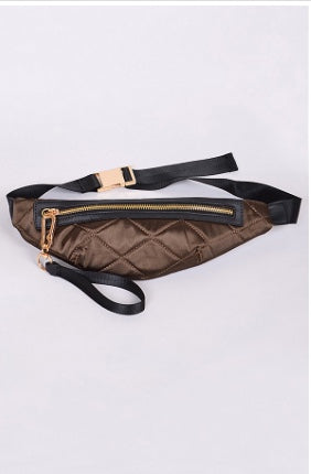 Quilted Fanny Pack- Olive