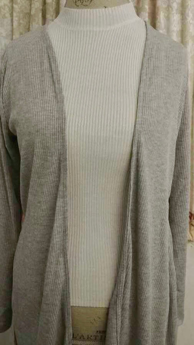 Heather Grey Cardi