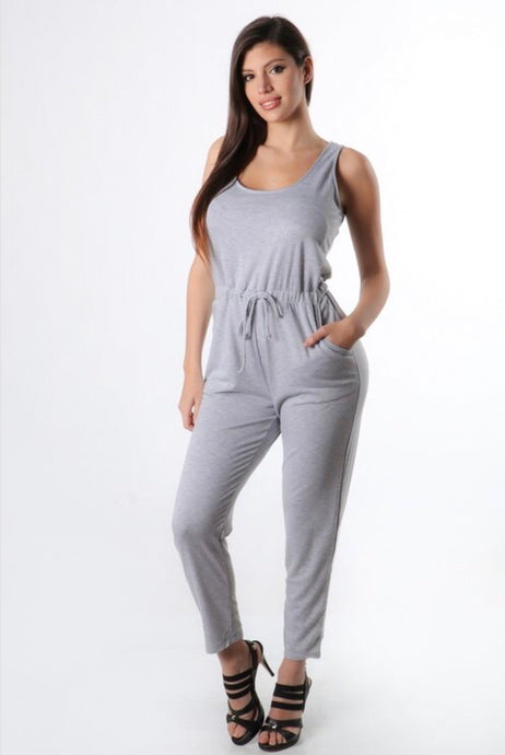 Jordy Jumpsuit -Heather Grey