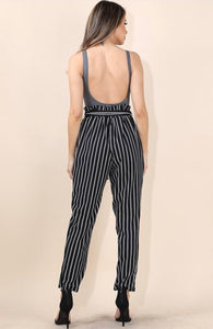 London Striped Pants - Black