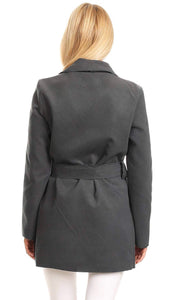Stylish Wrap Coat - Grey