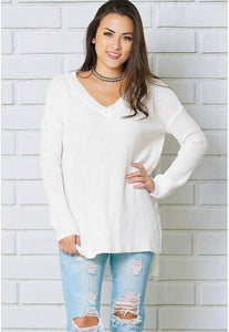 Over Sized Sweater-Ivory