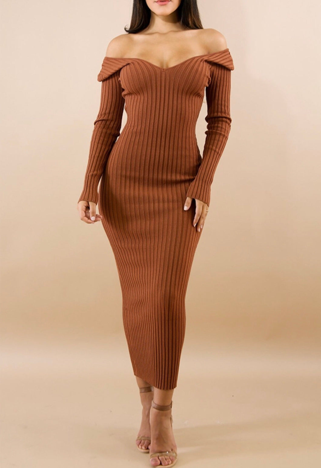 Mia Sweater Dress- Ginger