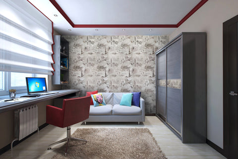 City Wallpaper Vintage Wallcovering Smart