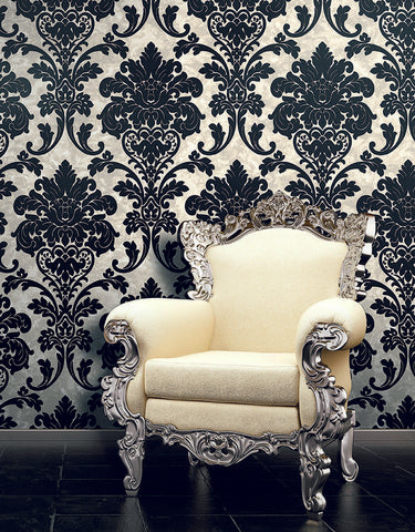 white-damask-black-flock-wallcoveringsmart-wallcoverings-mart-smart-wallcovering-wallpaper-usa-buy