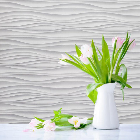 wallpaper wallcoverings mart 3D  illusion gray white contemporary modern