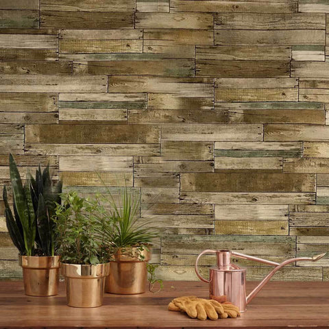 Wood Brick Barn Wallpaper