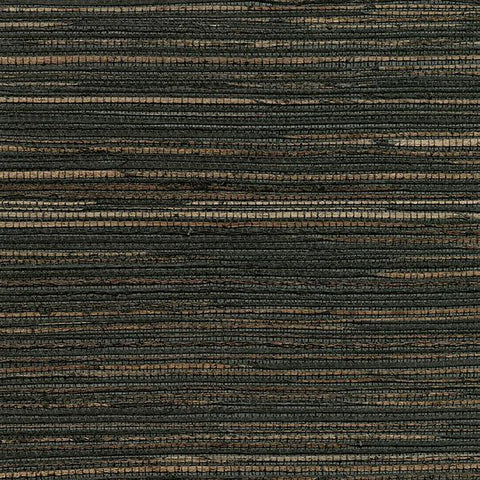 2732-80081 Kenneth James Brewster Natural Grasscloth Shandong Charcoal Ramie Wallpaper