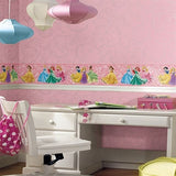 DK5967 Perfect Princess Swirl Pink Glitter Wallpaper