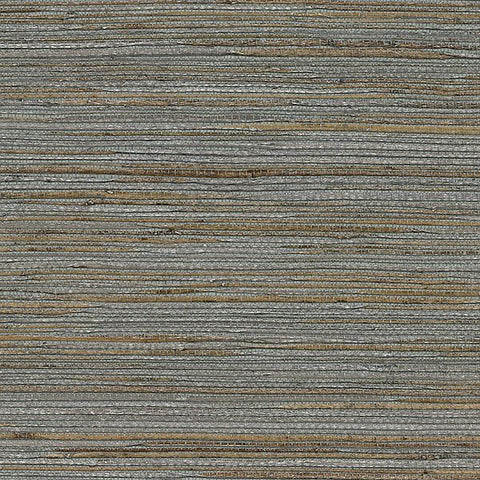 2732-80085 Brewster Natural Grasscloth SHANDONG SLATE RAMIE Gray Wallpaper