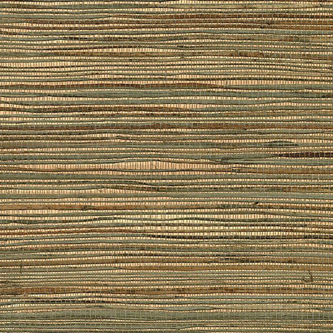2732-80039  Kenneth James Brewster OZAMIZ COPPER Natural Grasscloth Wallpaper