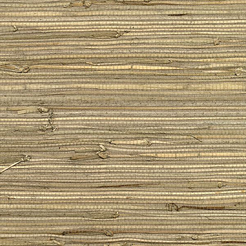 2732-80084 Kenneth James by Brewster Natural Grasscloth Anhui Brown Wallpaper