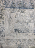 310030 Paisley Blue White faux Rustic carpet Wallpaper