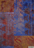 310027 Blue Burgundy Paisley Rustic Wallpaper
