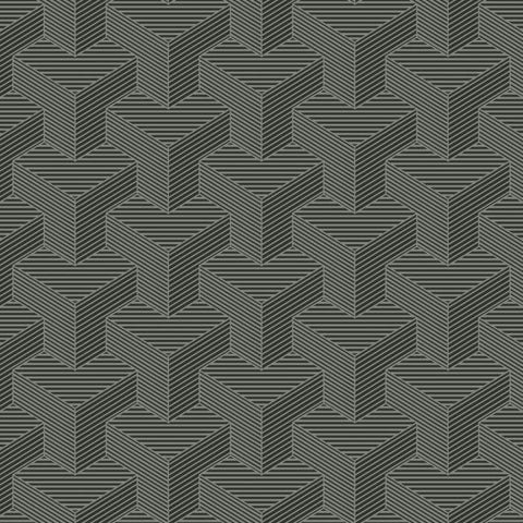 SW7464 Hexahedron Sure Strip Wallpaper