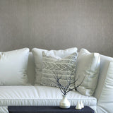 75814 Grey Faux Grasscloth Wallpaper