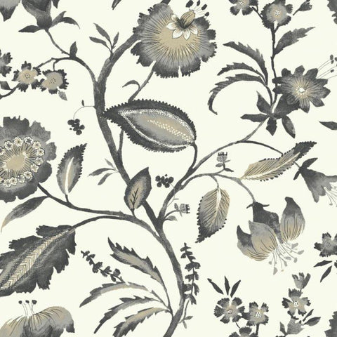 AT7018 Watercolor Jacobean Sure Strip Wallpaper - wallcoveringsmart