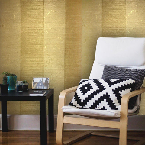 125030 Wallpaper Gold Metallic Textured Striped Modern Stripes - wallcoveringsmart