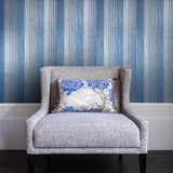 305021 Stripe Turquoise Blue Gray Wallpaper