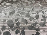 135056 Velvet Gray Charcoal Leaf Portofino Wallpaper