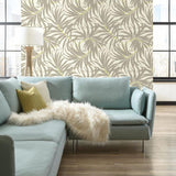 AT7054 Bali Leaves Sure Strip Wallpaper